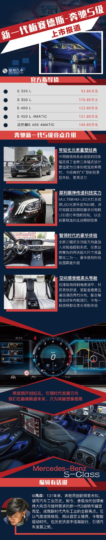 新一代奔驰S级上市 售93.80万元起