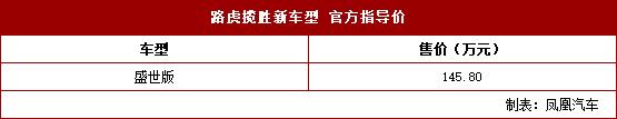 路虎揽胜盛世版正式上市_售14热血传奇1.76秒卡二区5.80万元