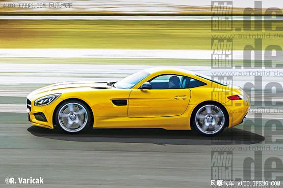 奔驰都位于斯图加特)旗下911的重要竞争对手.在amg标志的背高清图片