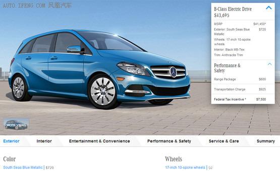 2015款奔驰b级电动车发布 可配增程器