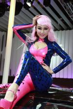 车展上撩人的性感小野猫 2013深港澳车展 美女车模