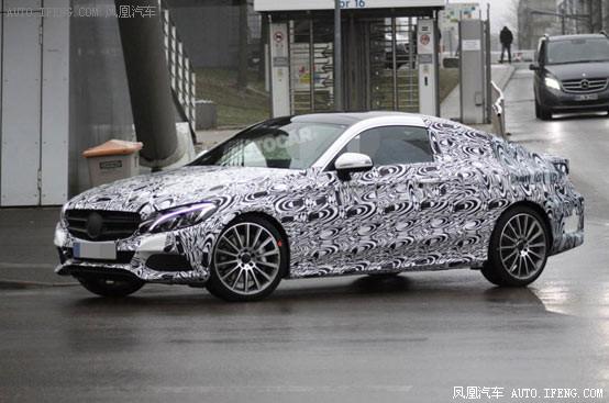 新奔驰c级coupe最新谍照 9月正式亮相 一图解析 奔驰利 高清图片
