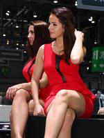 性感豪放 2014巴黎车展 美女车模