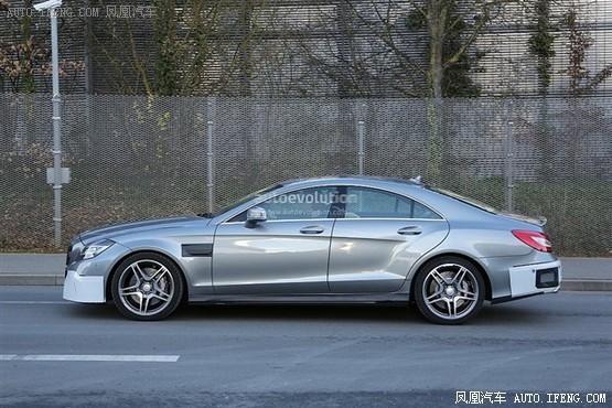 奔驰新款cls63 amg路试 2014年正式推出高清图片