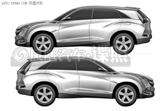 讴歌SUV-X专利申报图-盘点2016年即将国产上市的多款SUV车型图片