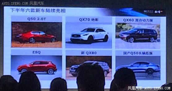 英菲尼迪下半年新车计划 将推多款新车