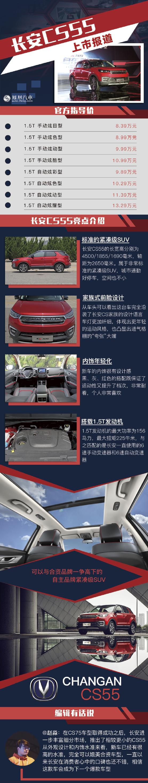 长安CS55正式上市 售8.39-13.29万元