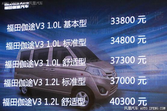 凤凰汽车讯 2015年2月6日,   福田   伽途汽车旗下首款车高清图片