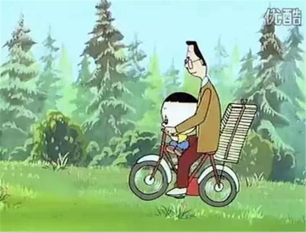 小头爸爸带着大头儿子回去的时候也是骑自行车的,可见小头爸爸并不是